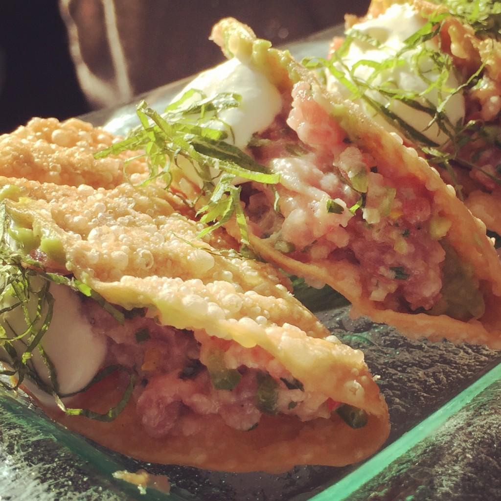 Ki Japanese Tuna tacos