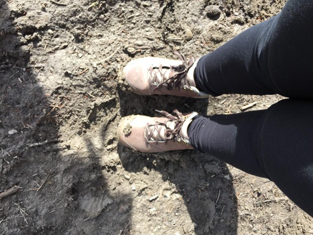 My very muddy hikers.