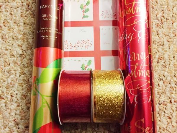 Papyrus holiday Christmas gift wrap (Custom)