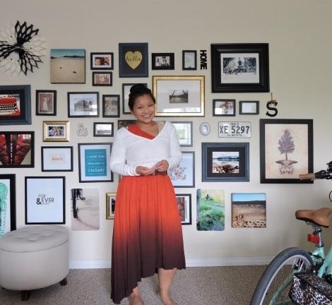 Irene Seto Gallery Wall dress