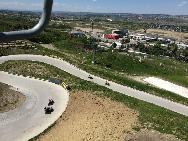 Riders header down the winding course.