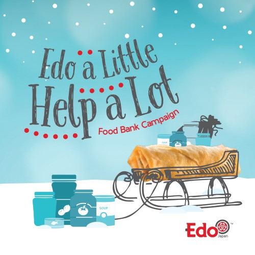 Edo Japan food bank campaign