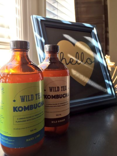 Bottles of Wild Tea Kombucha