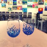 Wine glass painting at Vin Gogh