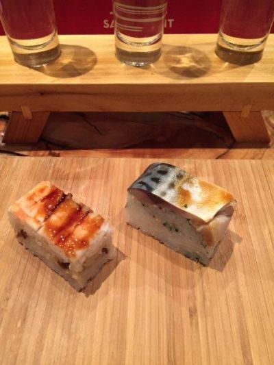 Unique box sushi at Goro and Gun