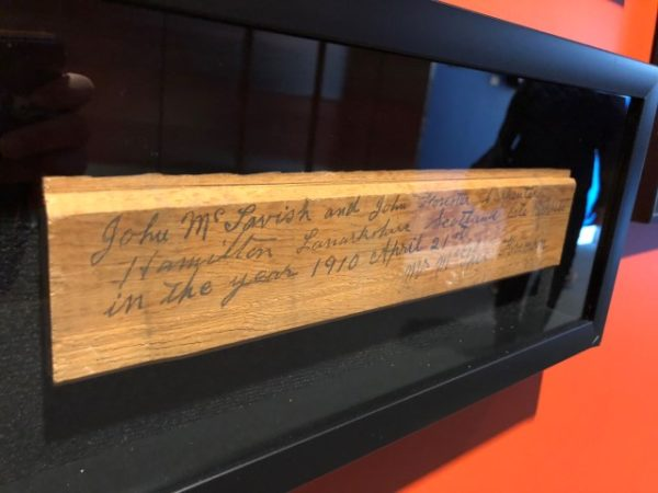 Construction artifact from 1912 found in Studio Bell