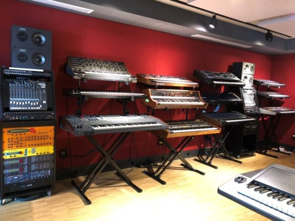 Many types of synthesizers at Studio Bell