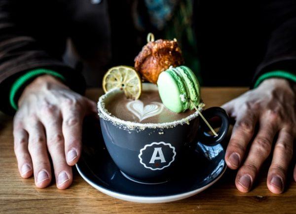 Chili hot chocolate at Analog Coffee