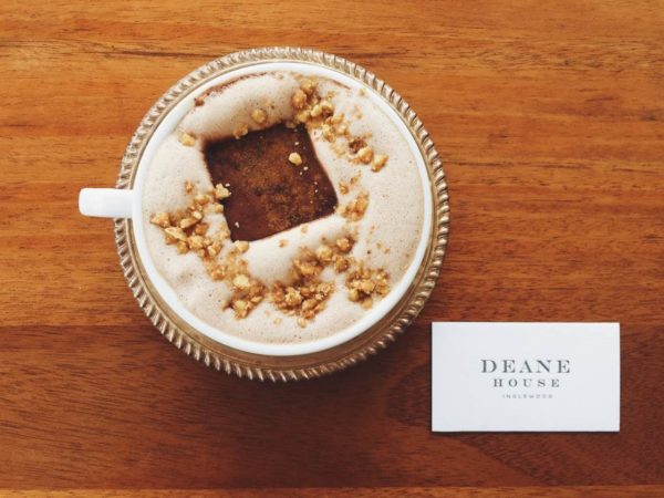 Honey and marshmallow hot chocolate at Deane House