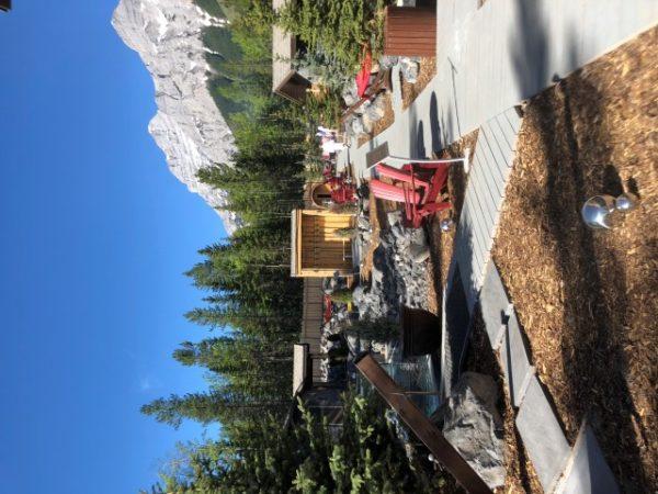 Beautiful mountain views at the spa