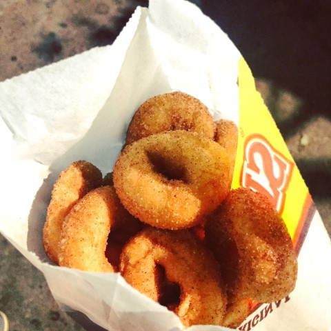 Deep fried mini donuts