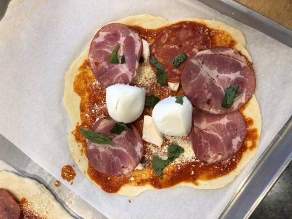 Handmade pizza dough at Sauce Italian Kitchen