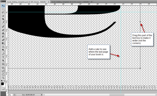 Stretching the textbox on Photoshop