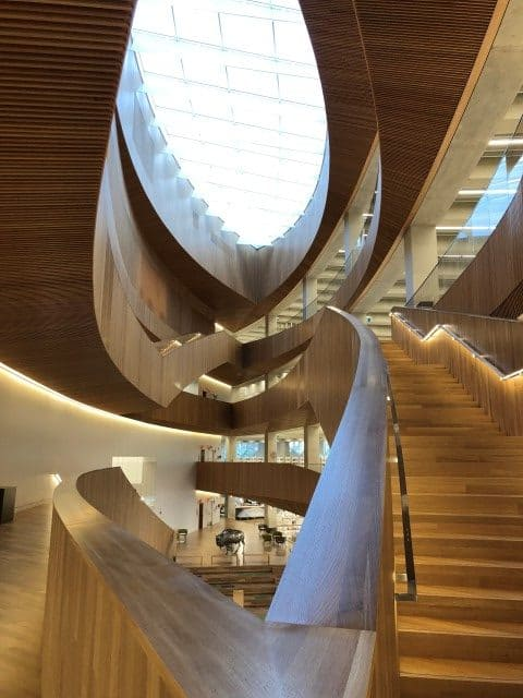 Oculus skylight brings in tons of natural light to the new Calgary library.
