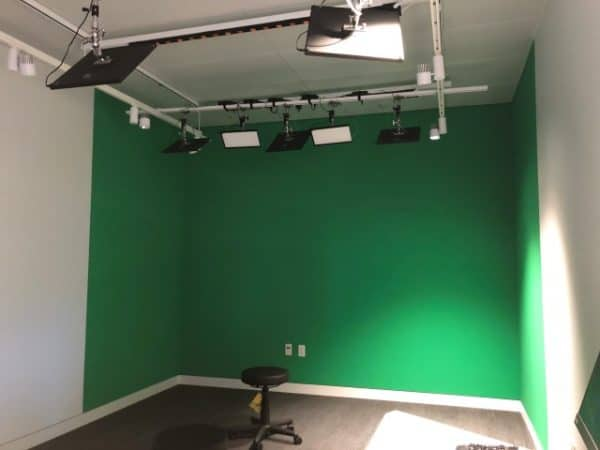 Recording studio and equipment rooms