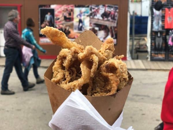 Deep fried chicken skins at the Stampede grounds.