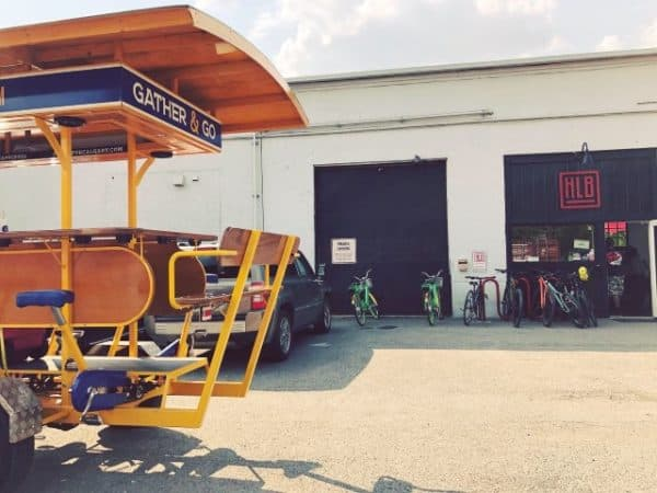 Pedal Pub at local brewery Highline Brewing