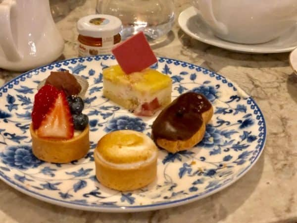 Desserts at afternoon tea