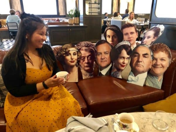 Tea with cast of Downton Abbey