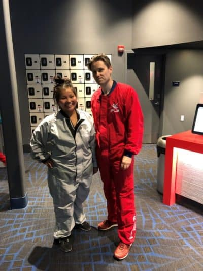 In jumpsuit gear at iFLY