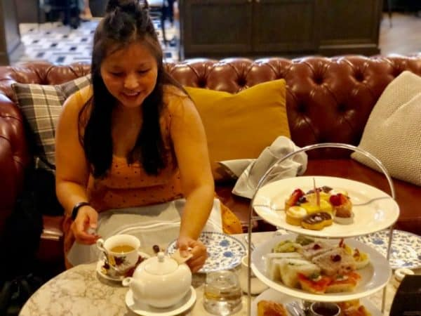 Tea and food at Hawthorn Dining Room