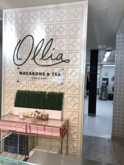 The lovely Ollia Macarons and Tea shop