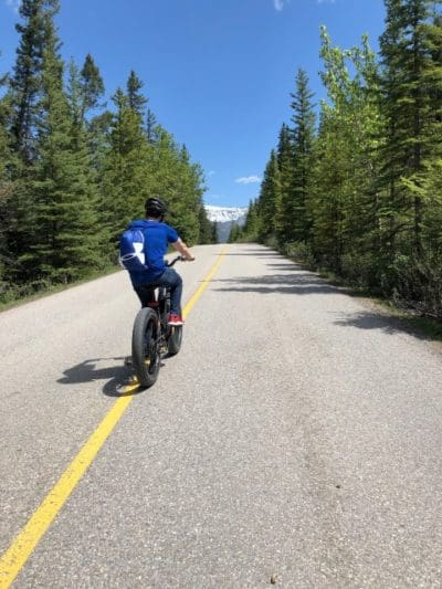 Biking on Tunnel Mountain Drive
