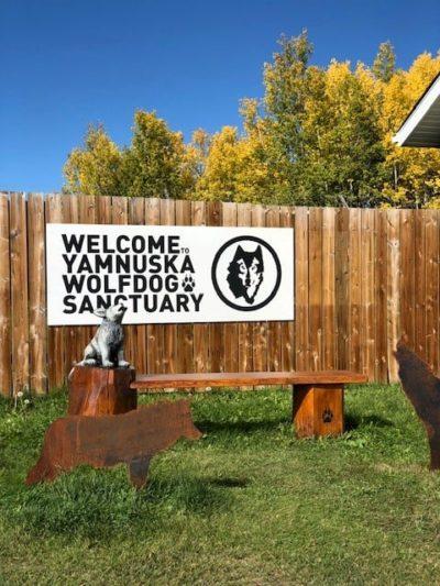 Yamnuska Wolfdog Sanctuary entrance
